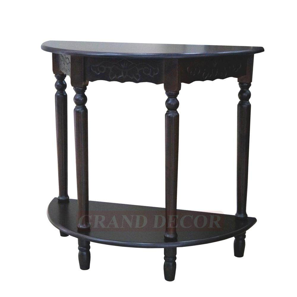 GRAND DECOR Half Moon Table/Side Table/Phone Table/Console Hall Table