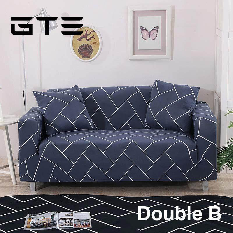 Gte Sofa Cover For Double Seat Couch Slipcover Stretch Covers Elastic Fabric Free One