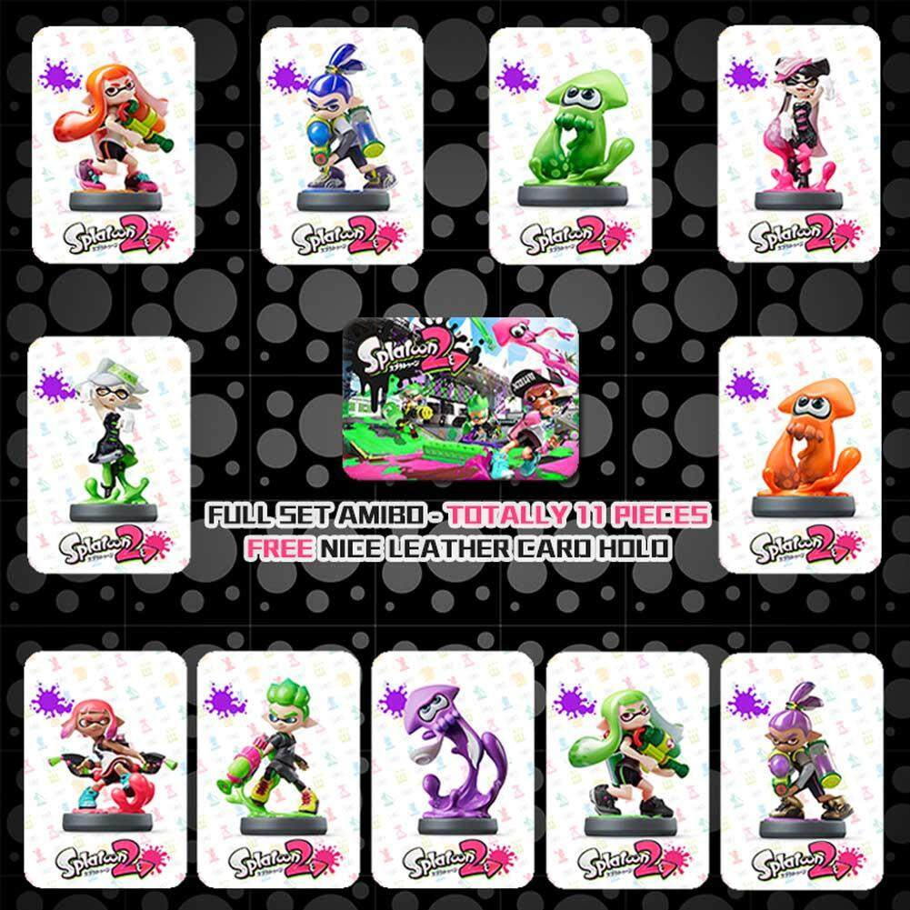 Buy Sell Cheapest Splatoon 2 Nintendo Best Quality Product Deals Switch Red Blue Bundle 2games 2amiibo Hot Cards Jet Fighter Amiibo Game 11 Pieces Size