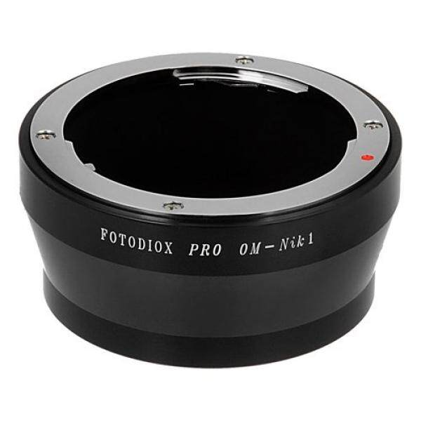 Fotodiox Lensa Pro Adaptor Dudukan, Om Olimpus Zuiko Lensa untuk Nikon 1 Sistem Mirrorless Kamera Digital Seperti S2, J4, V3, AW1-Intl