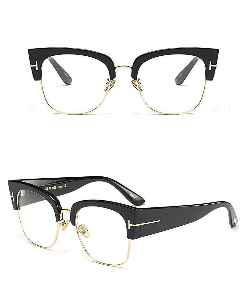 edd3392836 FULL HOT Classic Sunglasses Half Frame Clubmaster for Men Women 100% UV  Protection (Clear