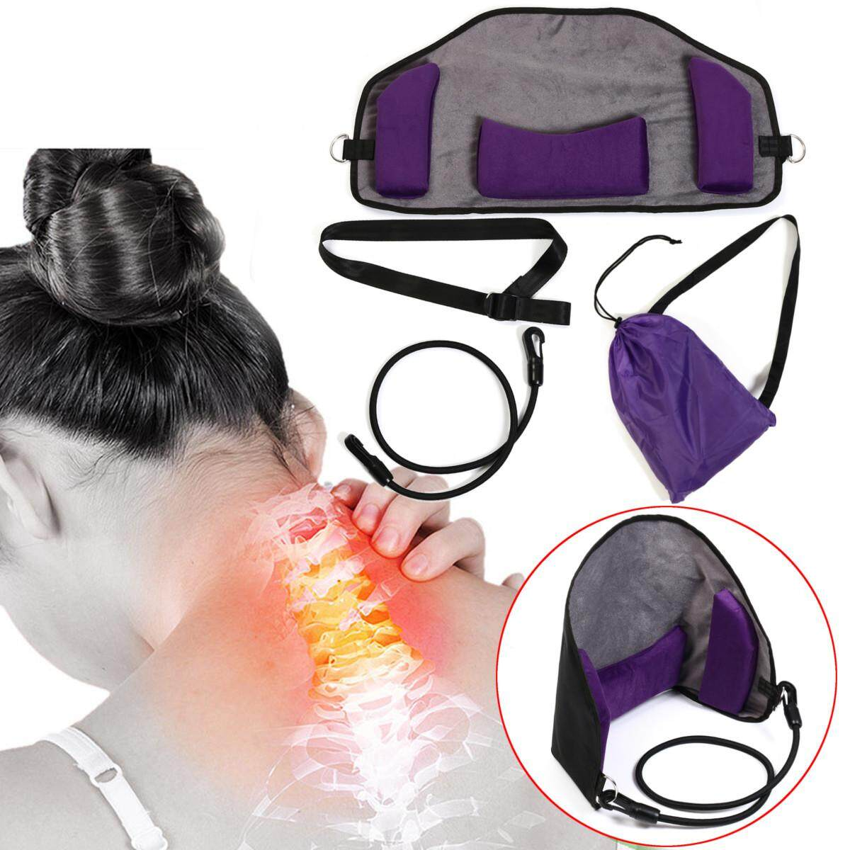 Neck Massager Hammock Traction Head Pain Relief Relaxion Blood Circulation Usa Intl Promo Code