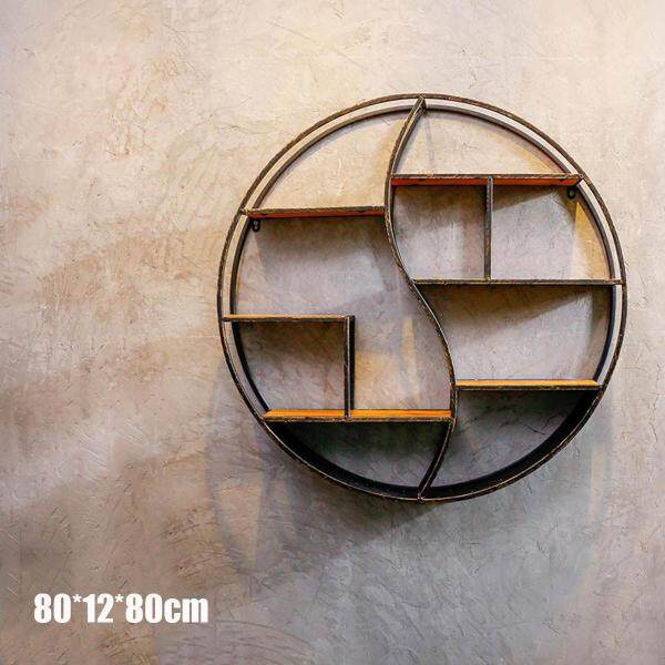 METAL WOOD ROUND SHELVING UNIT BOOKCASE [large Tai Chi circular stacks]