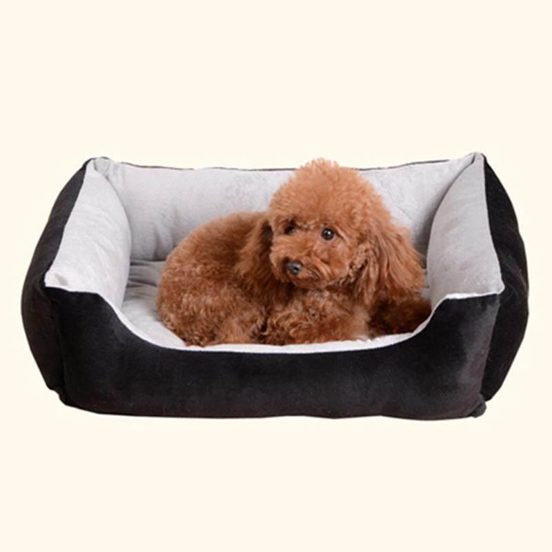PP Katun Tempat Tidur Hewan Piaraan House untuk Kucing Anjing (Hitam Ukuran S) - 3