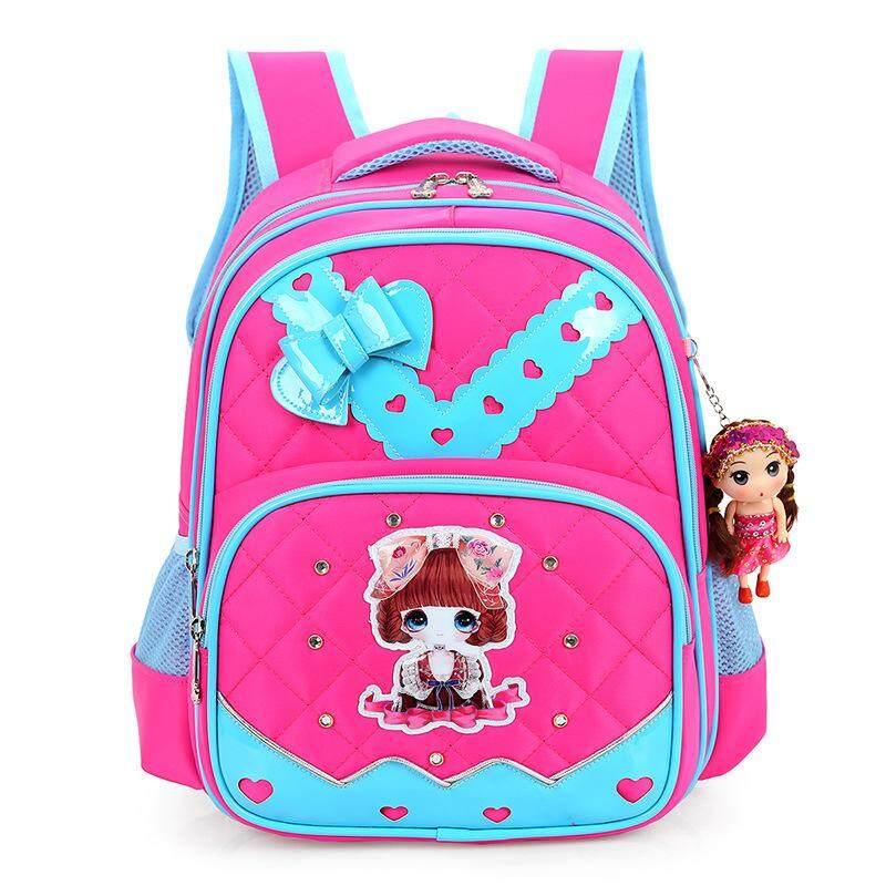WYY5 Baru Lucu Ornamen Boneka Sekolah Kelas 1-4 Paket Sekolahnya Ransel Keringanan Tas Sekolah