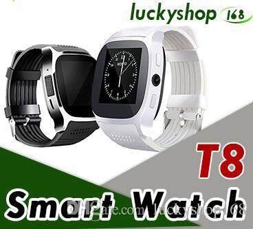 Untuk ANDROID Baru T8 Bluetooth Smart Jam Pedometer Mendukung Sim & Kartu TF dengan Kamera Panggilan
