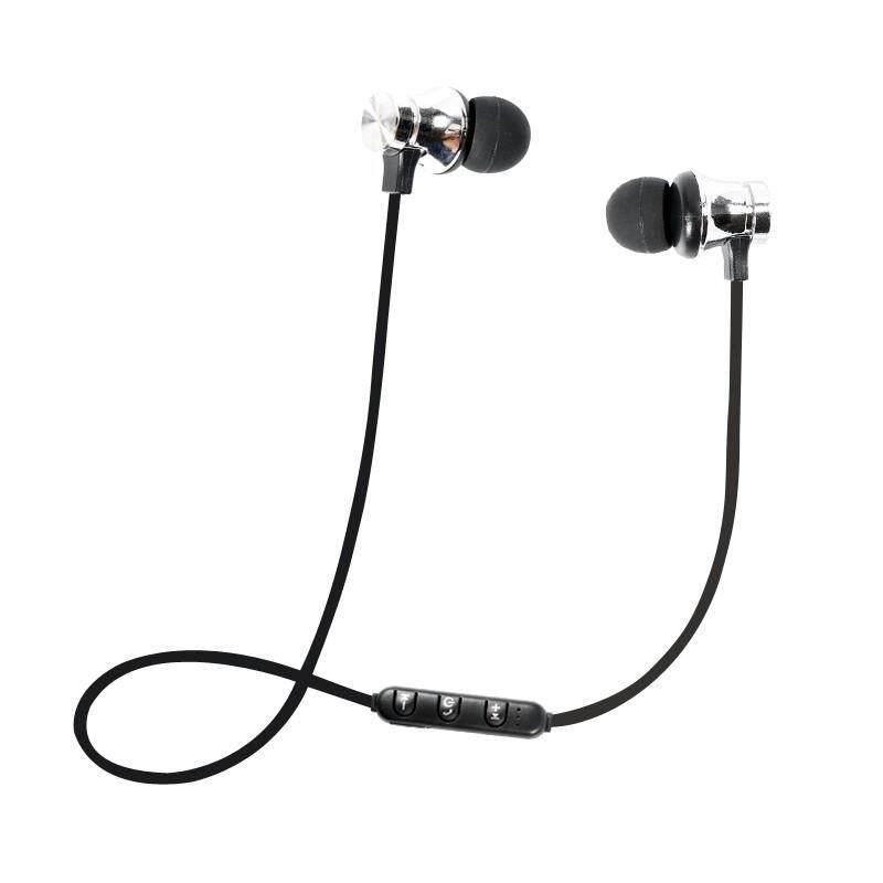 Ajkoy XT11 Headset Olahraga Bluetooth Olahraga Tahan Air Tarikan Magnetik Nirkabel 4.2 dengan Kabel CAS Earphone