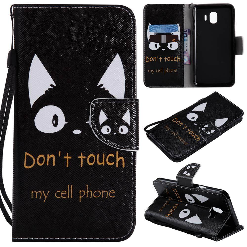 Fitur Case For Samsung Galaxy J4 2018 Magnetic Flip Pu Leather With
