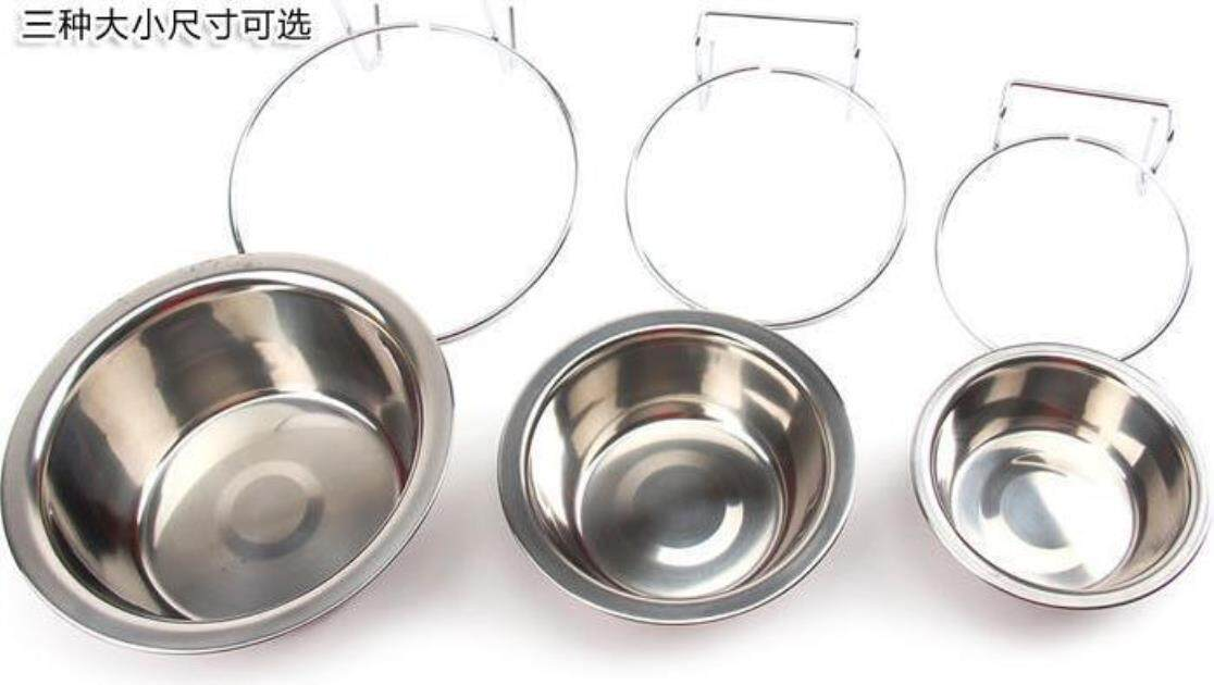 Direct Supply Of New Type Of Stainless Steel Single Bowl Single Bowl Dog Cage Bowl Bowl Pet Bowl For Small Mixed Batch
