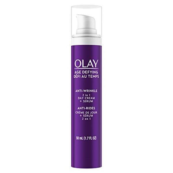 Olay Age Defying 2-in-1 Anti-Wrinkle Day Cream Plus Serum, 1.7 Fluid Ounce / From USA