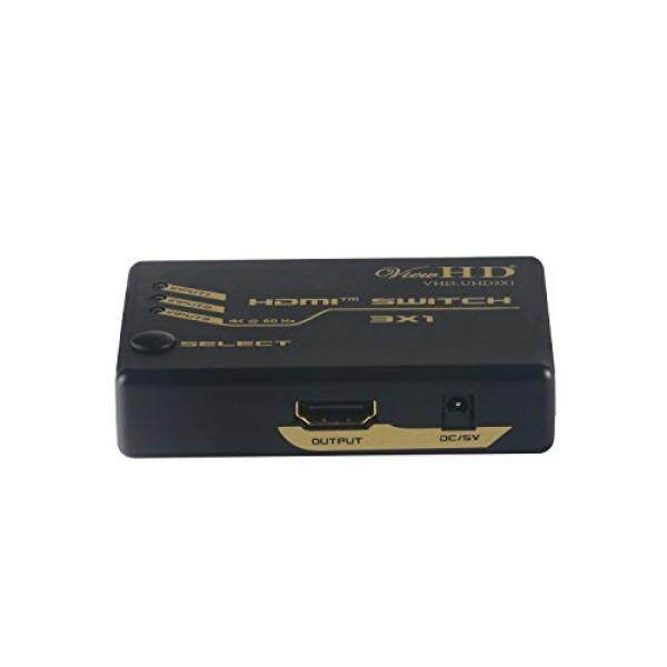 External Components ViewHD UHD HDMI v2.0 3x1 (Three Input to One Output) Powered Switch with Remote Control Support 4K@60Hz HDR & HDCP 2.2 VHD-UHD3X1 - intl