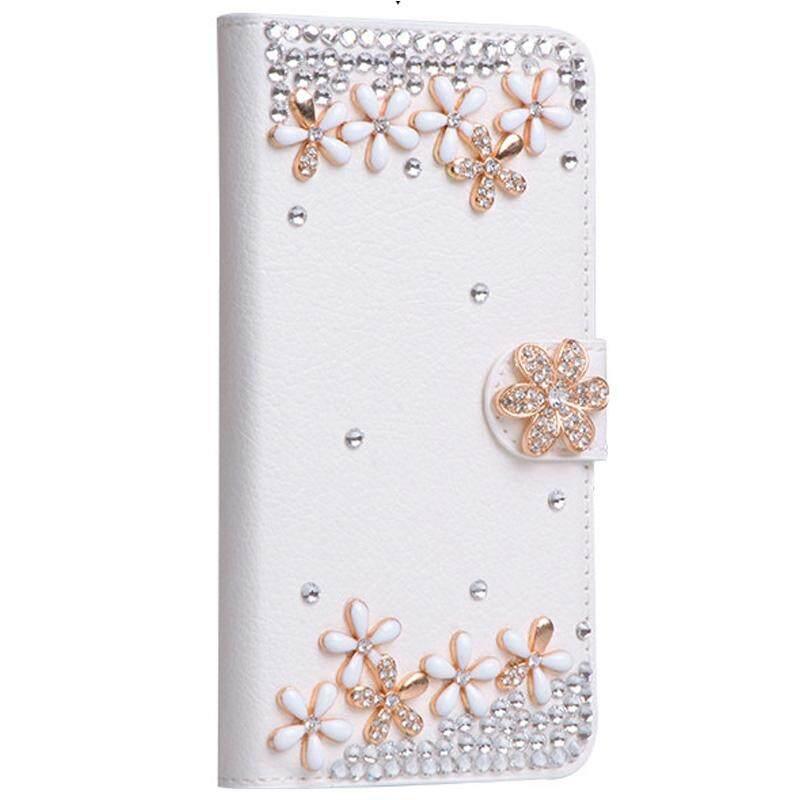 Berlian Buatan Lipat Case untuk Oukitel K10000 Pro Pu Kulit + Lembut Silikon Dompet Sarung untuk Oukitel K10000 PRO 5.5 Inch berlian Telepon Case-Internasional