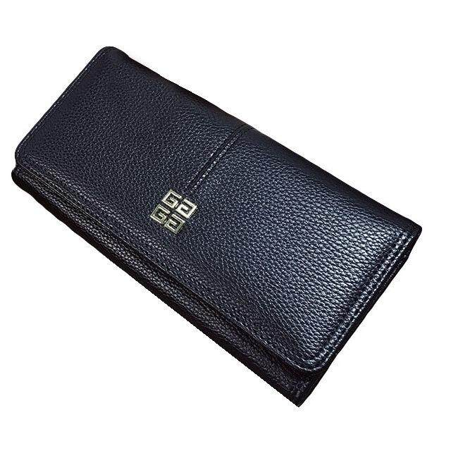 WLT-034 Norway Hubert 110 Woman Big Space Coin Card Wallet Purse [BLACK]