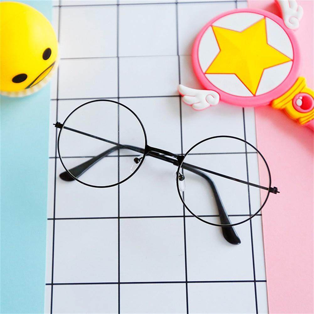 Girls Fashion Vintage Round Circle Glasses Cute Metal Frame Eyewear Frame Color