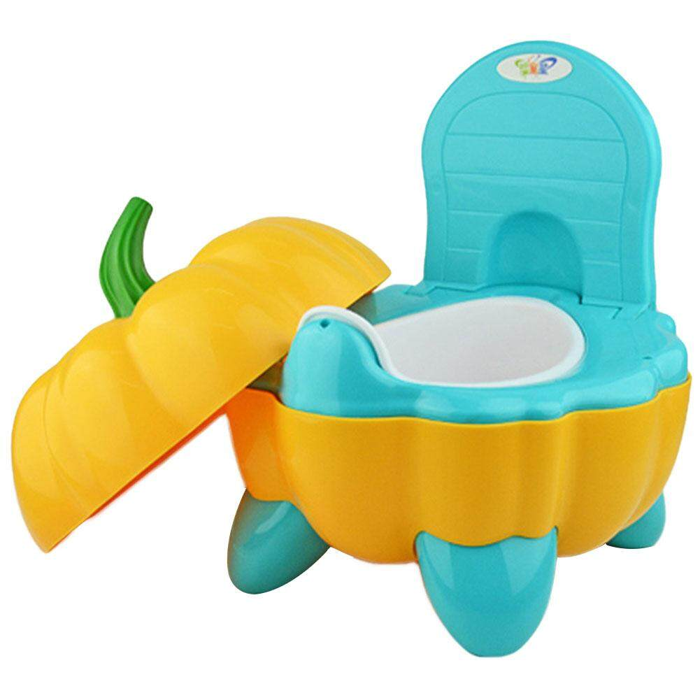 Cute Cartoon Baby Folding Portable Toilet Seat Pumpkin Plastic Chair Potty By Makiyo.