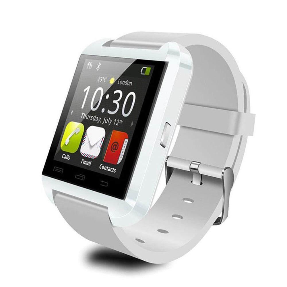 Olahraga U8 Smart U Watch Jam Tangan Bluetooth dengan Pengukur Langkah Anti Hilang Monitor Tidur Jam Pintar Digital untuk SAMSUNG Huawei Android Xiaomi Ponsel
