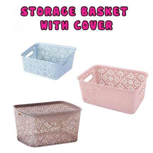 Plastic Hollow Out Storage Box Underwear Bra Socks Tie Organizer Divider Boxes Closet Organizers With Cover - Random Colour