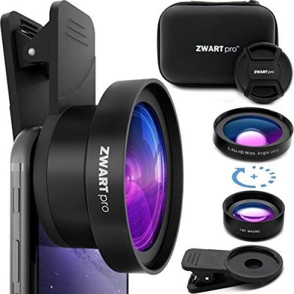 Zwartpro Lensa Telepon Selular Lampiran 2 In 1 Lensa Kamera HD Kit dengan 0.45X Sudut Lebar dan 15X Lensa Makro untuk iPhone, Samsung, HTC, Nexus, iPad dan Hampir Smartphone Apapun dan Tablet + Pelindung-Intl