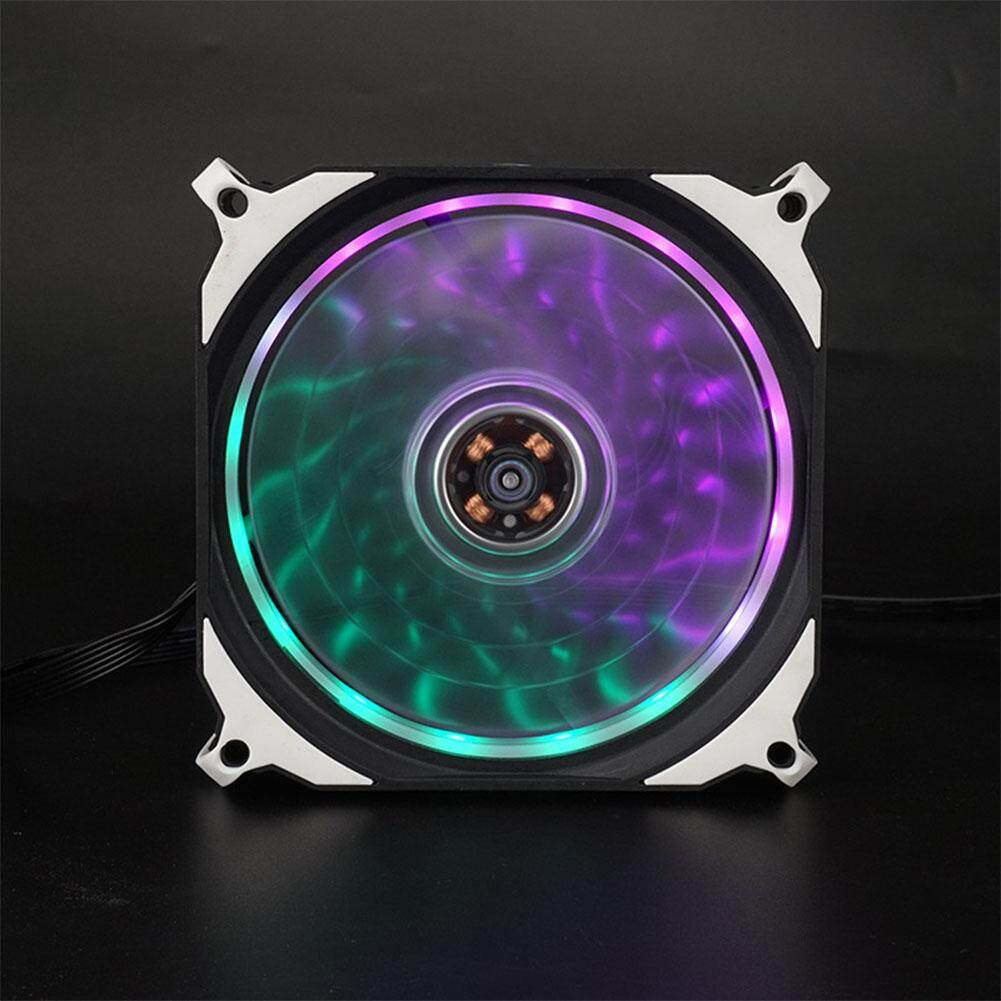 12cm 15 LED Lights Silent Fan PC Computer RGB Chassis Fans Case Heatsink Cooler Cooling Fan