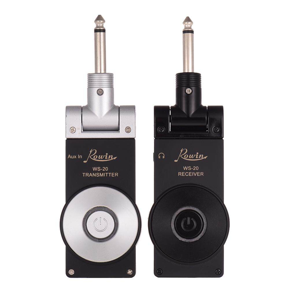 Rowin WS-20 2.4G Wireless Rechargeable Electric Guitar Transmitter Receiver Set 30 Meters Transmission Range with USB Charging Cable