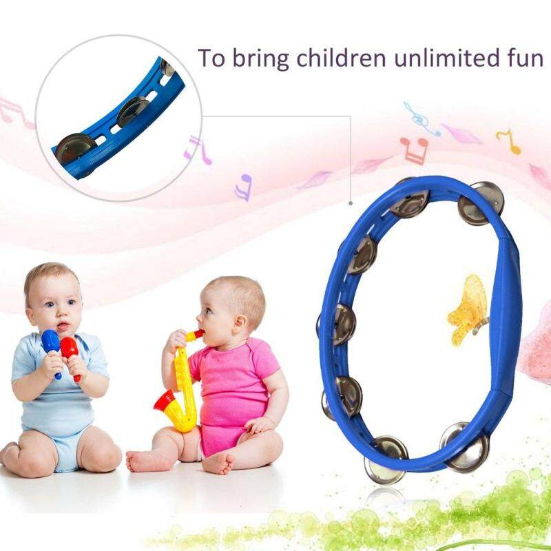 OH Orffworld Plastic Tambourine Hand Shaker Rattle Ring Kid Percussion Instrument - intl