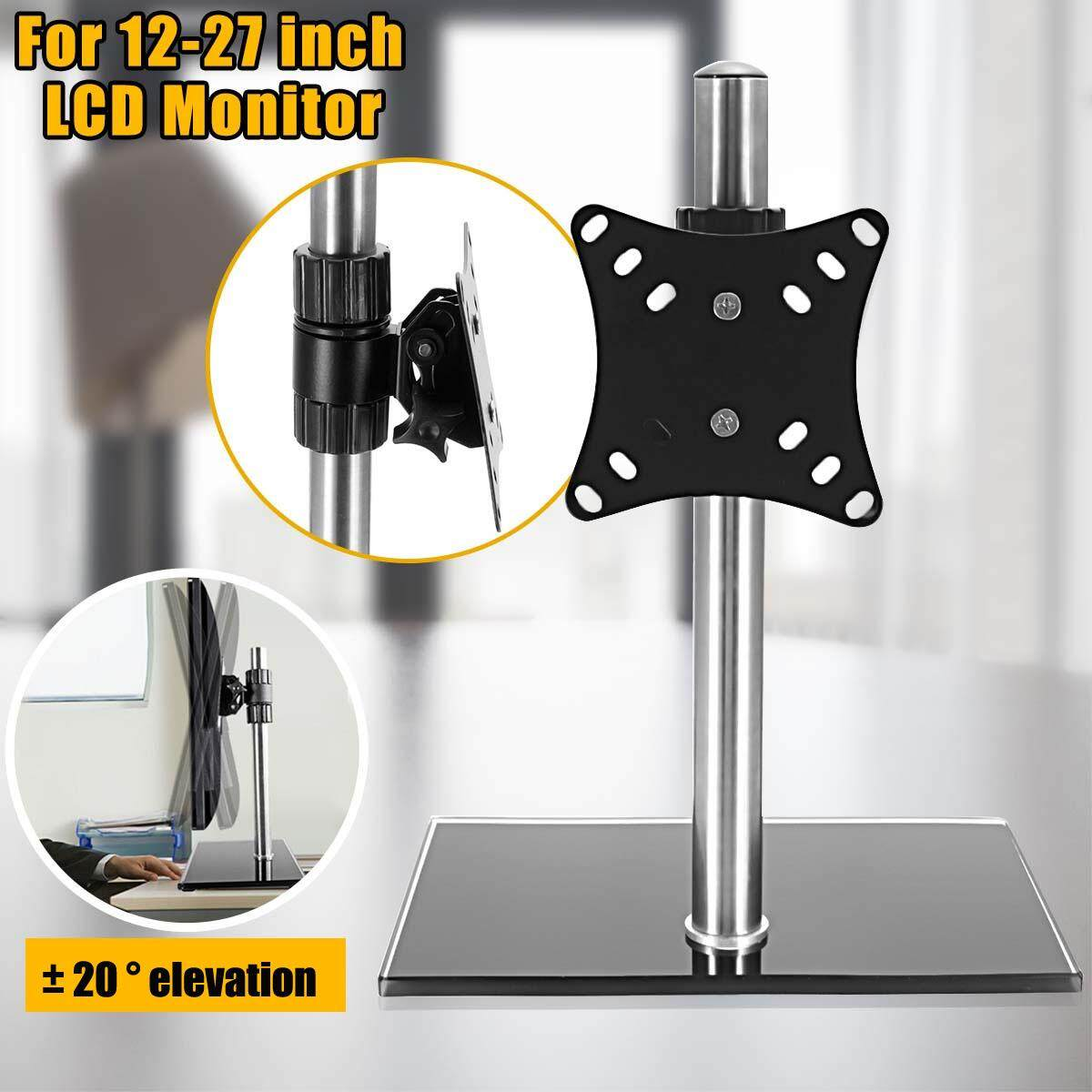 Hình ảnh 360° Single Computer Monitor Arm Mount Desk Stand 12-27'' Screen LED TV Bracket