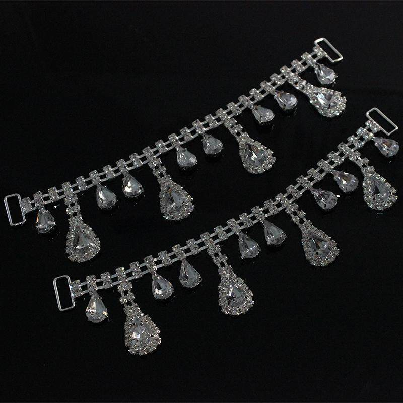 MagiDeal Hot Sale Silver 4 long drops+8 short drops Bikini Connector 2016 - intl