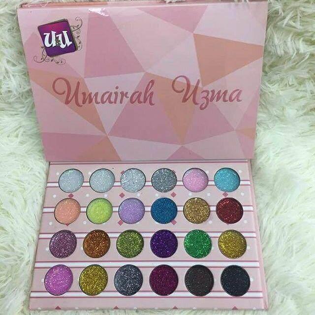 Umairah Uzmah Pro Glitter Palette 24 color eyeshadow, 12 color glitter eyeshadow best viral eye shadow palette best selling