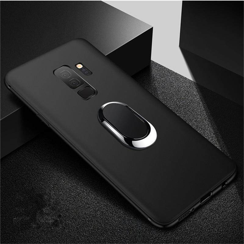 ... For Samsung Galaxy S9 Plus Card Holder Stand Magnetic Suction Bracket Case Thin Soft Silicone Matte