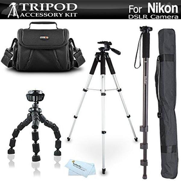 Tripod Bundle Kit For Nikon Df, D5200, D3300, D5300 D3200 D3100 D5100 D700 D7000 D90 D800 D800E D610 DSLR Camera and Blackmagic Pocket Cinema Camera Includes 57