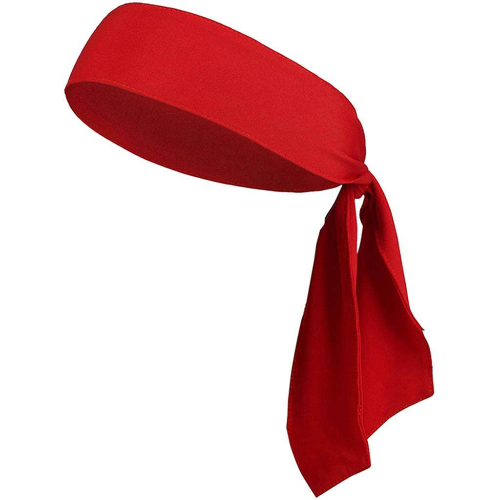 Flameer Sports Head Tie Headband Sweatband For Running Basketball Tennis Yogo Red By Flameer.