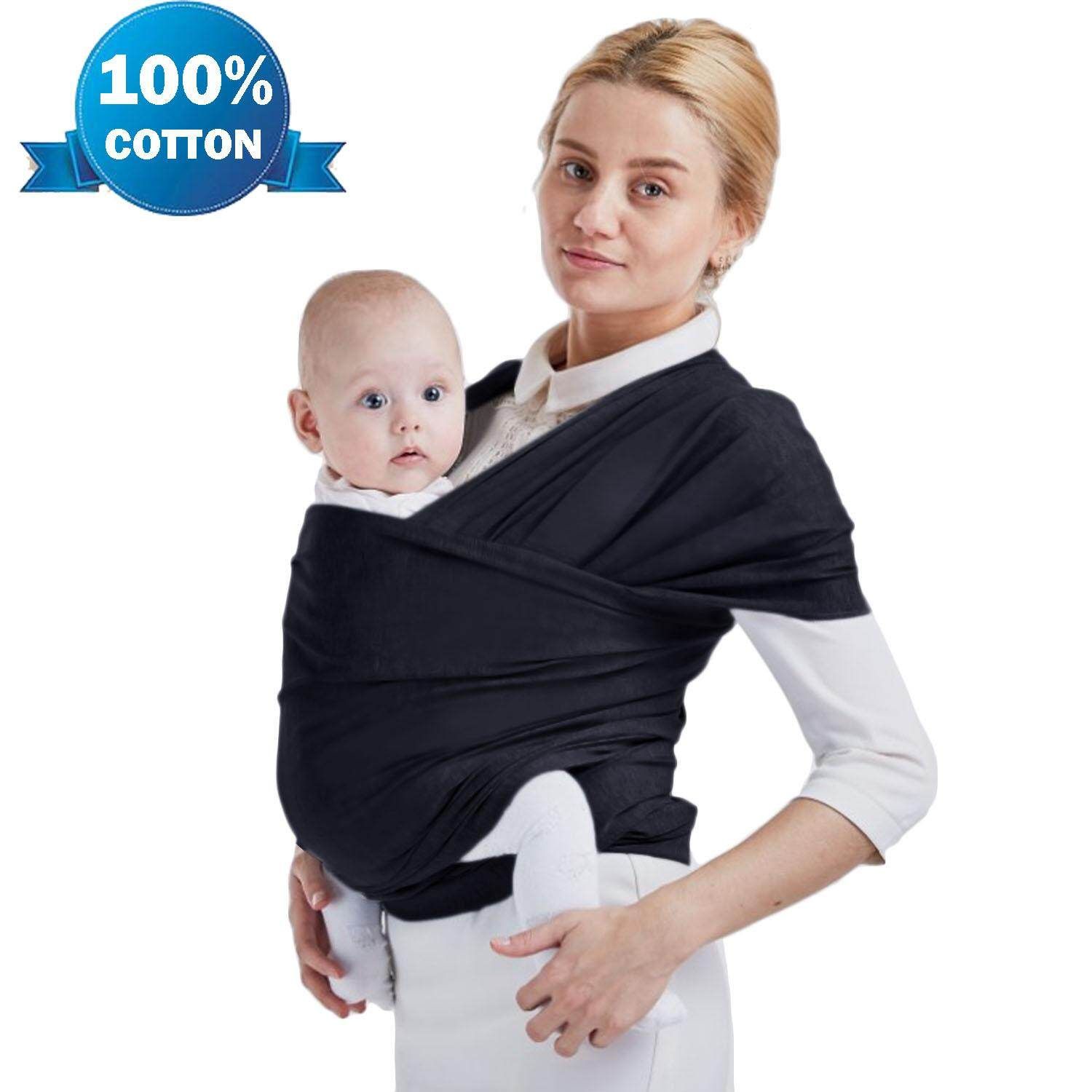d3189763e00 China. Soft Cotton Adjustable Baby Sling Wrap Cover Carrier For Infants Up  To 20kg Black