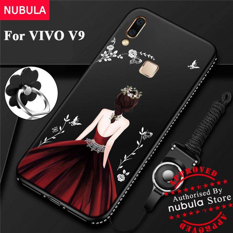 NUBULA Soft TPU For VIVO V9 Case Pretty Diamond Ultra-thin TPU Protection Phone Case