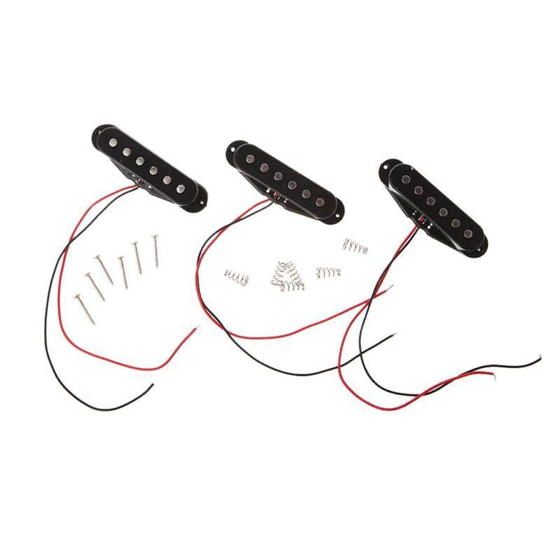 Black 1Set/3Pcs Alnico 5 V Single Coil Pickup SSS for Strat Style Guitar Malaysia