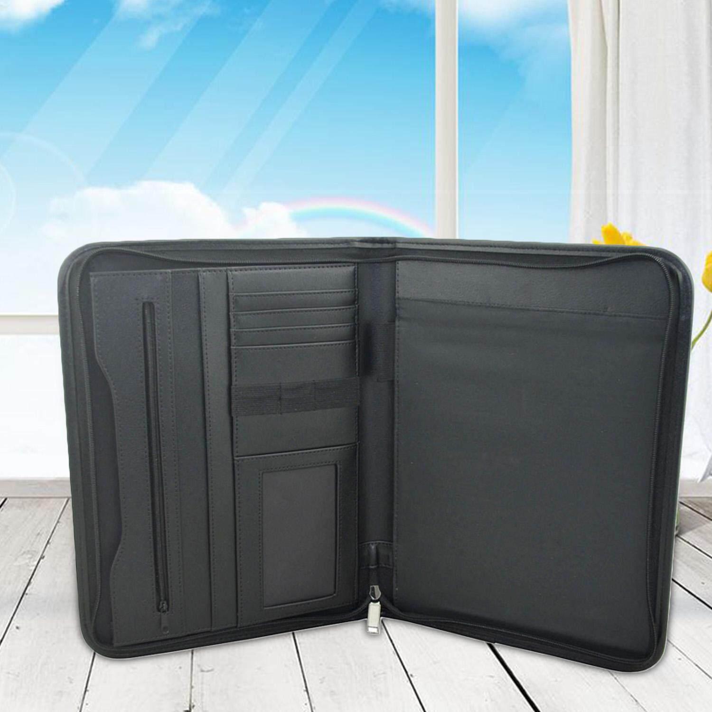 Mua Multifunctional A4 Conference Folder Professional Business PU Leather Document Organizer Case Bag Portfolio with Calculator Multiple Slots - intl