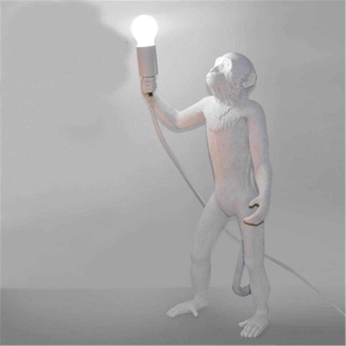 Modern Style Resin Monkey Rope Pendant Light Industrial Ceiling Lamp Chandelier#Floor lamp - intl