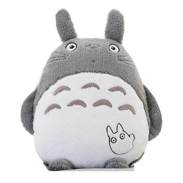 GOODPLANET Husky Totoro Plush Soft Hold Foldable Throw Blanket Pillow Cushion