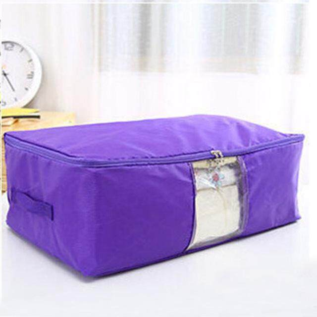 60x50x28cm Waterproof Oxford Washable Quilts Bag Portable Big Size Storage Box with Window