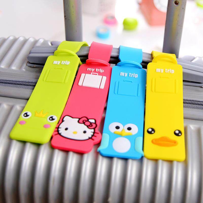 13 Options Long Cartoon Luggage Tag - Hello Kitty, Lion, Owl, Penguin, Stitch, Totoro, Minion, Panda, Yellow Duck, Chi, Maruko, Doraemon, Frog