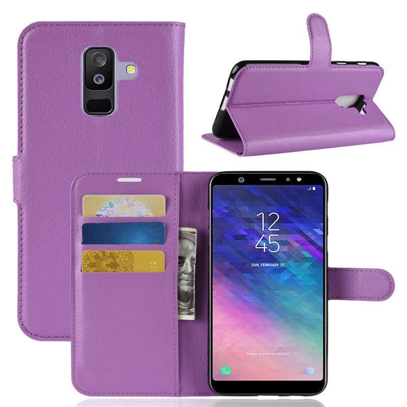 Fitur Cases For Samsung Galaxy A6 Plus 2018 A6 2018 Leather Flip