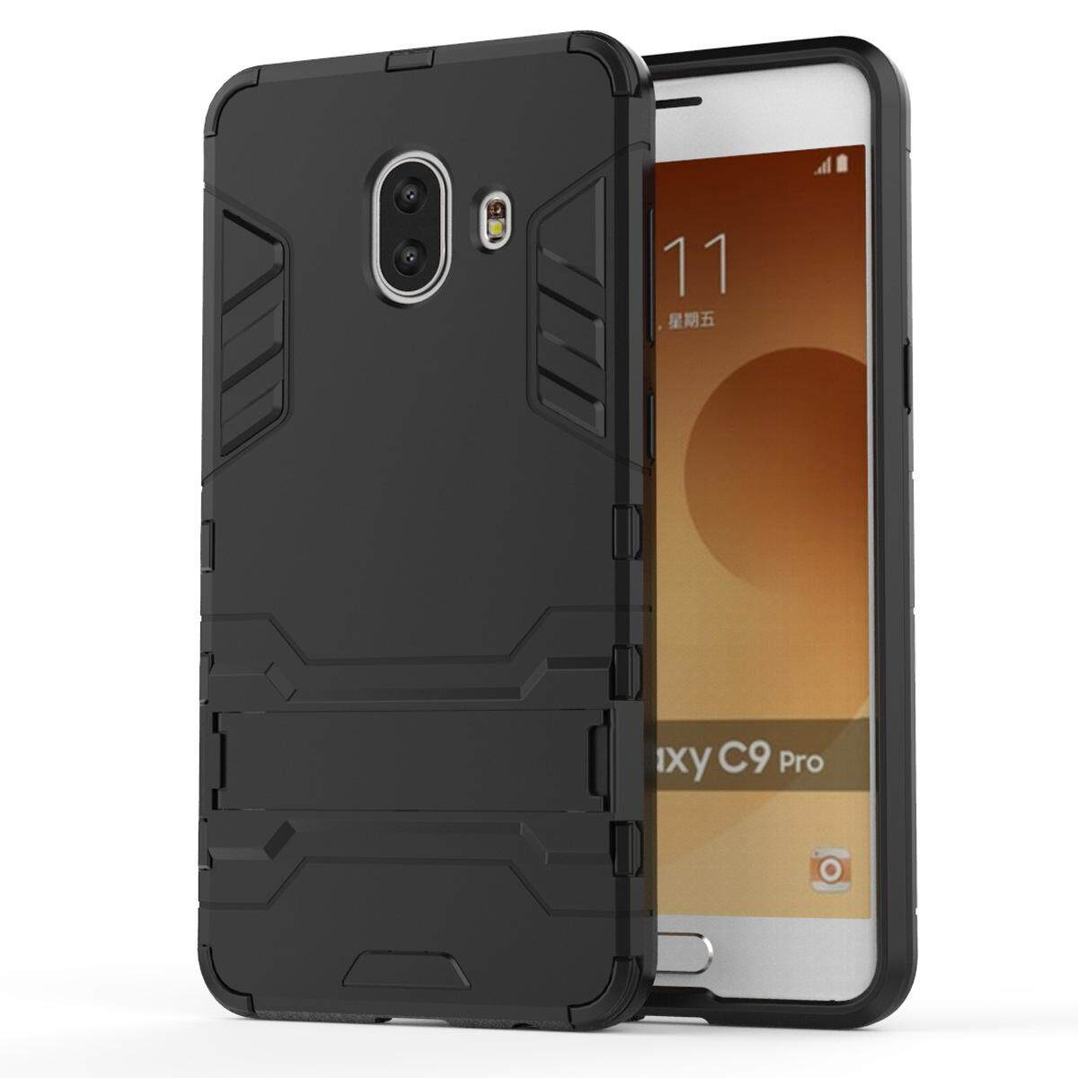 Hình ảnh for Samsung Galaxy C10 Case 2in1 PC+TPU Hybrid Slim Back Case Ultra Thin Armor Cover, with Kickstand Holder, Glossy, Minimalist, Casual