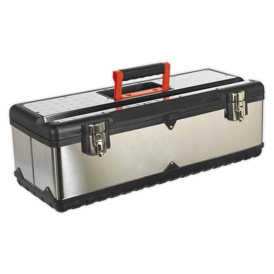 (Clearance) STAINLESS STEEL TOOLBOX 660MM WITH TOTE TRAY