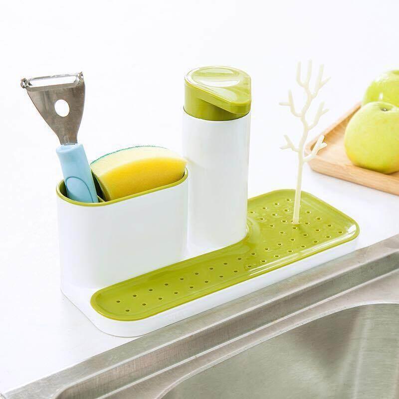 Multifunctional Bathroom Container Soap Dispenser Hand Sanitizer Bottle Storage Kitchen Storage Shelf Sink Detergent - intl