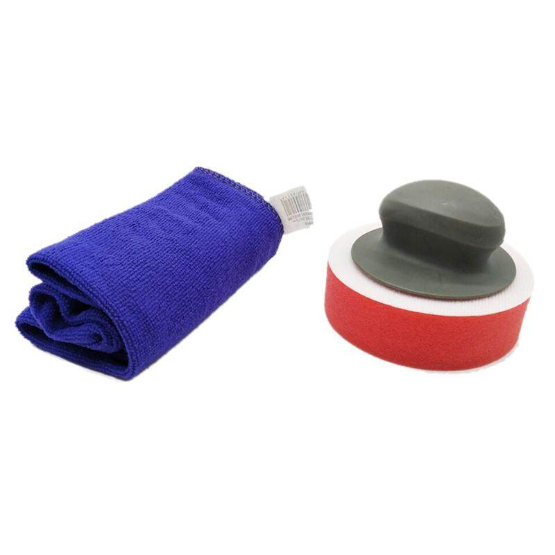 4 Inch Car Care Sponge Polishing Buffer Pad Kit Fiber Towel Foam Gross Waxing Pads Auto Polisher Detailing Wash Cleaning Tools Red By Yomichew.