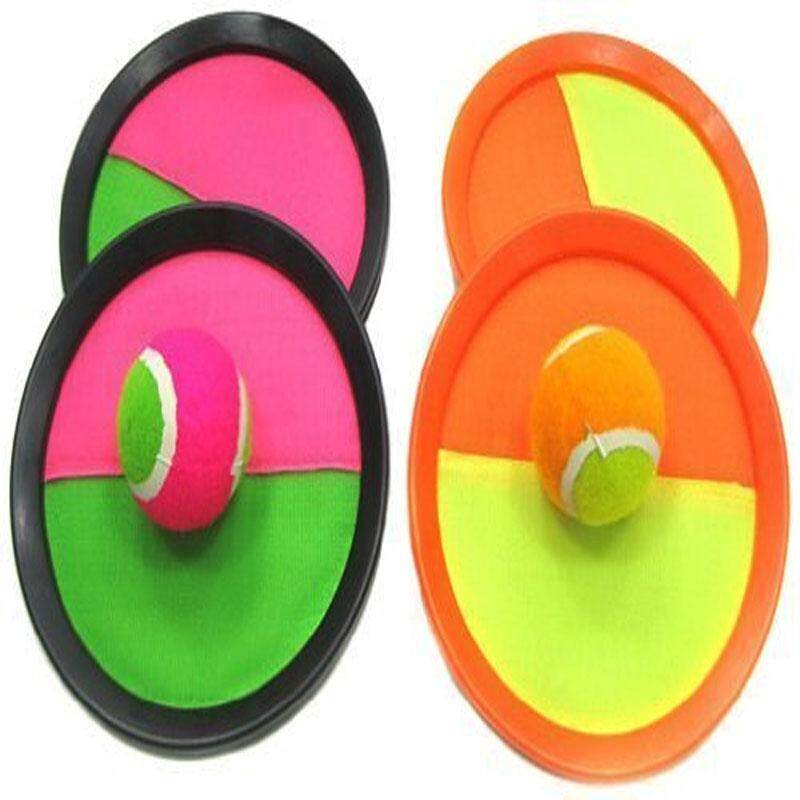 Hình ảnh Paddle Toss and Catch Game Set - Self-Stick Disc Paddles and Toss Ball Sport Game - Equally Suitable Game for Kids & Adults, Outdoor or Indoor - Each Set Includes 4 Paddles and 2 Small & 2 Big Balls - intl