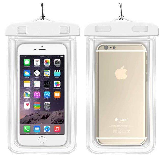 Universal Waterproof Phone Bags For Alcatel Pixi 4 5.5 5012G / 5012F Soft Clear Pouch Case Sport Diving(Suitable for 6 inches below) - intl