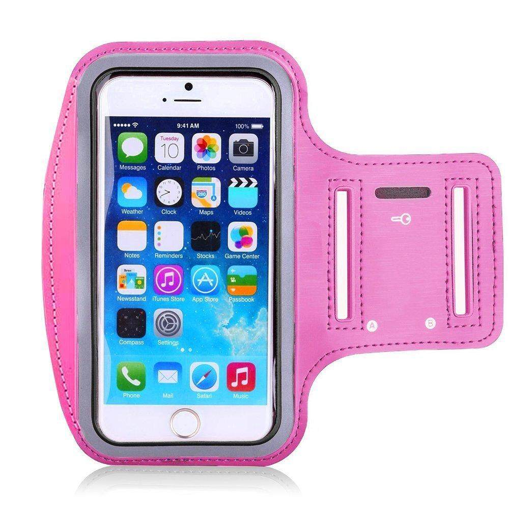 Waterproof Sport Running Arm Band Case(Rose Red 4.7 Inch)