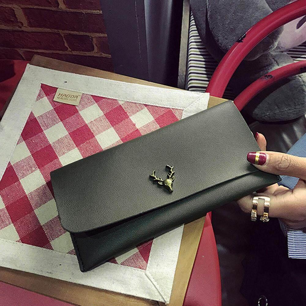 แฟชั่นผู้หญิงคลัทช์กระเป๋าสตางค์หนังกระเป๋าเก็บบัตรกระเป๋าสตางค์ Zero กระเป๋าสตางค์ By Sykesshop.