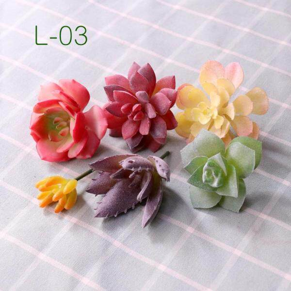Artificial Succulent Pant Combined Green Plants Artificial Fleshy Artificial Flower Combination Matching Set Green Vegetation Background Wall Decoration