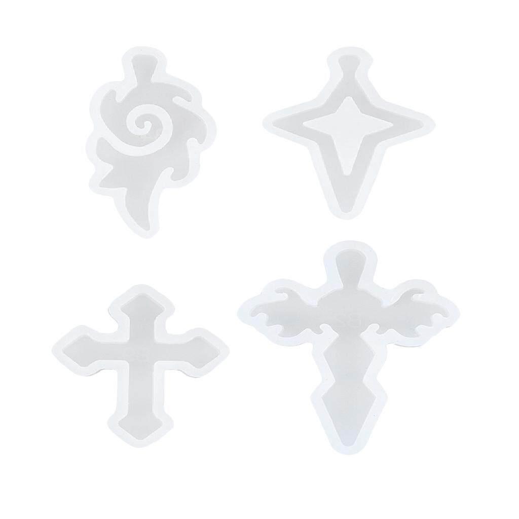 Hình ảnh BolehDeals 4pcs Cross Shape Pendants Charms Silicone Molds Mould for Resin Jewelry Making #1